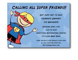 5th birthday party invitation super hero birthday party invitation printable
