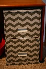 filing cabinet covered in chevron contact paper made it