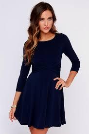 navy blue dress with sleeves naf dresses
