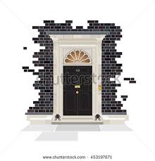 exterior number 10 downing street official stock vector 453197659