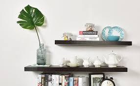 Espresso Floating Shelves by Amazon Com Welland 2