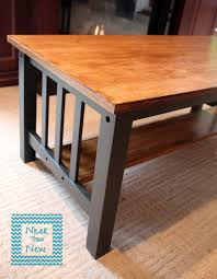 mission style table makeover refinished furniture pinterest