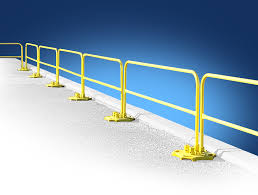 Handrail Requirements Osha Roof Fall Protection Guardrail System Safetyrail 2000 Bluewater