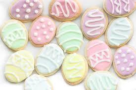 easter sugar eggs easter egg sugar cookies ahead of thyme