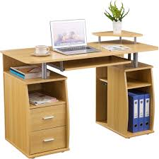 Morgan Computer Desk With Hutch Natural by Office Desk With Lots Of Drawers Best Home Furniture Decoration