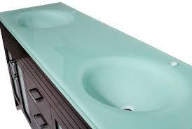 72 bathroom vanity top double sink 73 inch bathroom vanity espresso finish glass top in aqua green with