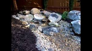 backyard stone waterfall pond water feature youtube