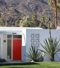 the best way to choose a front door colour from palm springs