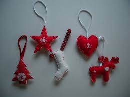 scandinavian style felt christmas tree decorations with pictures