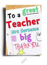 thank you cards for teachers to a great thank you card i want it now