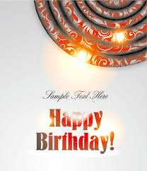 Birthday Card Ai Ornate Happy Birthday Card Background Vector Free Vector In Adobe