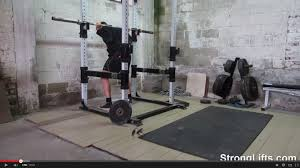 how to squat and do overhead presses without a place to pick the