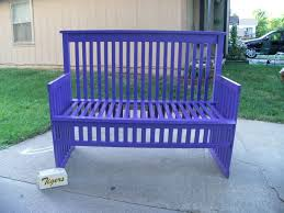 Creative Benches Bench Baby Crib Bench Best Ways To Repurpose Baby Cribs Crib