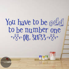 wall decal surfer 022 010 152658608369 16 99 you have to be odd to be number one dr seuss quote vinyl wall decal sticker