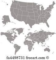 vector usa map free vector map prints and wall freeart