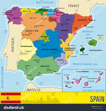 Alicante Spain Map by Detailed Vector Map Spain All Regions Stock Vector 368122430