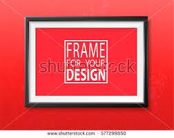 design templates photography free photo frame mockups frame on wall photoframe mock up stock vector 577299850 shutterstock