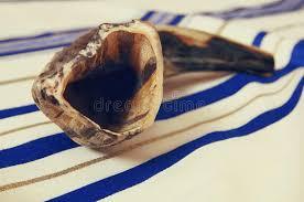 prayer shawl symbolism white prayer shawl tallit and shofar horn religious