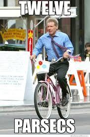 Bike Meme - harrison ford riding a little girls bike weknowmemes