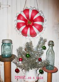 denise on a whim candy cane wreath