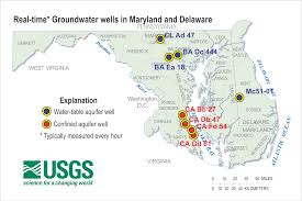 Map Of Md Water Data Ground Water Information Usgs Water Resources Of