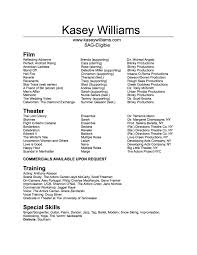 Commercial Acting Resume Sample 100 Best Actor Resume Samples Word Format For Resume Resume