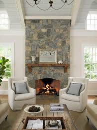 Fireplace Mantel Shelf Family Room Contemporary With Brown Leather - Chairs for family room