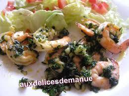 cuisiner gambas gambas sautées au beurre d escargot auxdelicesdemanue