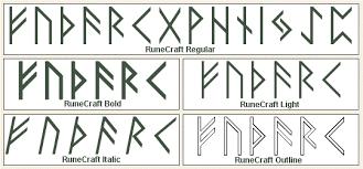 rune fonts runic fonts