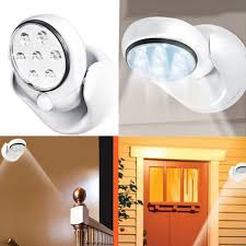 stick up led lights wireless motion activated sensor stick up cordless 7 led night light