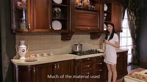 Cherrywood Kitchen Cabinets High End Cherry Wood Kitchen Cabinet From Oppein Youtube