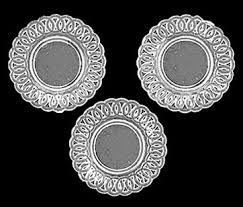 clear plastic plates lace edged plates 3pc clear plastic cb153cl 6 00