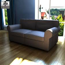ikea leather loveseat ikea ektorp two seat sofa 3d model hum3d