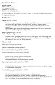 Diesel Technician Resume Best Mechanics Resume Contemporary Simple Resume Office