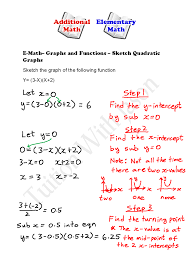 e math functions and graphs sketching quadratic graphs