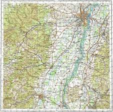 Strasbourg France Map by Download Topographic Map In Area Of Strasbourg Colmar Offenburg