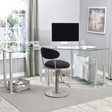 futuristic computer desk home decor intended for modern glass