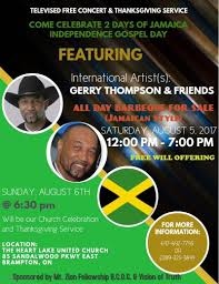 thanksgiving truth 2 days of jamaica independence gospel day at vision of truth