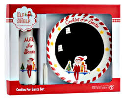 cookies for santa plate the on the shelf cookies for santa set by department 56 from