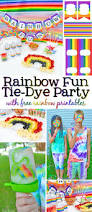 rainbow fun colorful tie dye party tutorial