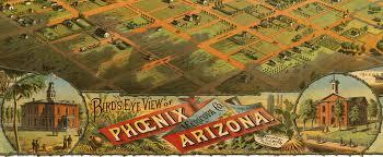 Map Phoenix Az by Phoenix Az In 1885 Bird U0027s Eye View Map Aerial Map Panorama