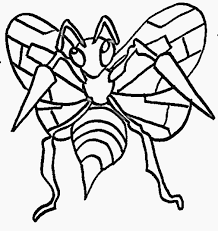 coloring pages glamorous pokemon coloring pages beedrill weedle