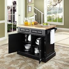 amazon com crosley furniture kitchen island with butcher block amazon com crosley furniture kitchen island with butcher block top black kitchen islands carts