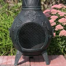 Paint For Chiminea Chiminea Grapestyle Cast Aluminum Outdoor Fireplace Chimenea