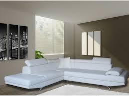 canap d angle en cuir blanc canapé cuir authenticité et design dans votre salon