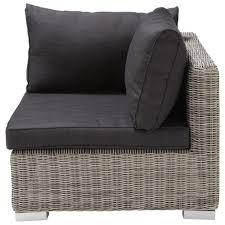 divano giardino angolo di divano da giardino in resina intrecciata grigia