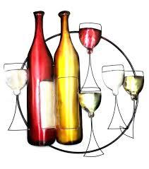 wall arts wine bottle and glass metal wall art wine art amazon