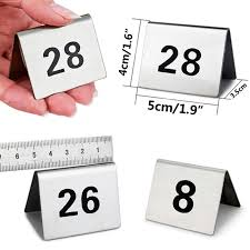 what size are table number cards 1 25 stainless steel table numbers durable number cards small
