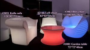Illuminating Coffee Table Led Sofa Set Illuminated Table And Chairs Glow Furniture Youtube
