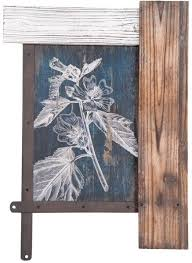 foreside home decor foreside home garden etched flower bouquet wall art price review